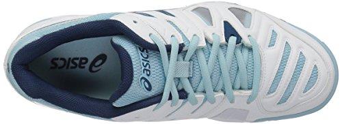 Asics Kvinders Gel-spil 5 Tennissko Hvid / Blå Stål / Krystalblå Z6fFy2