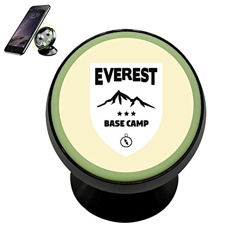 PG-Gai Mount Everest Base Camp Universal Magnetic Car Mount - Ultra-Compact 360 Rotation Phone Holder Dashboard Mount