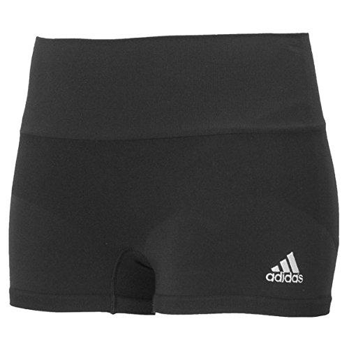 (adidas Womens Volleyball Primeknit Seamless 3 inch Short, Black, Large)