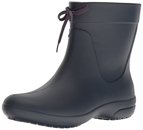 Boots Shaft Women - crocs Women's Freesail Shorty Rainboot, Navy, 9 M US