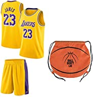 Fan Kitbag James Jersey Kids Lebron Basketball James Jersey & Shorts Youth Gift Set Home/Away Premium Qual