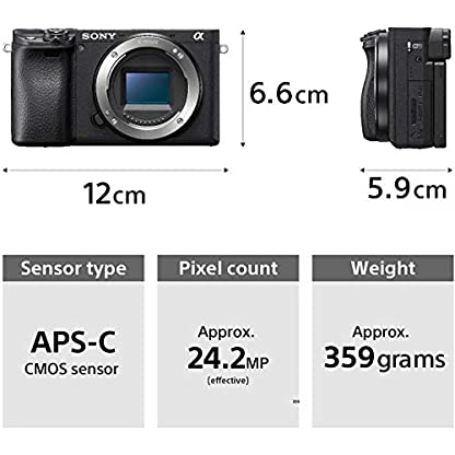 Sony Alpha ILCE-6400 24.2MP Mirrorless Camera Body (APS-C Sensor, Real-Time Eye Auto Focus, 4K Vlogging Camera, Tiltable… 4