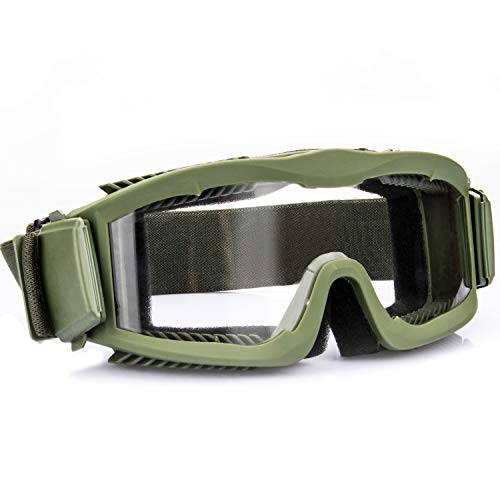 ZEAKER Airsoft Goggles,Tactical Safety Goggles Anti Fog Shooting Military Glasses for Paintball Hunting Motorcycle with 3 Interchangable Lens
