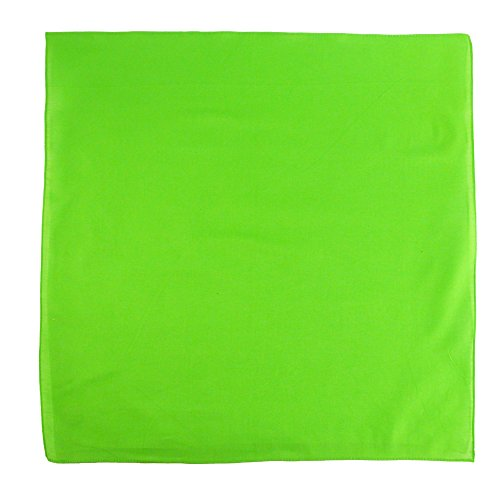 CTM Cotton Solid Color Bandanas, Lime