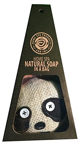 ARB IMS Aromatherapy Natural Home Spa Products - Handgemachte Seife aus natü rlichen Inhaltsstoffen im Loofah Beutel als Panda ARB-IMS Home SPA Products