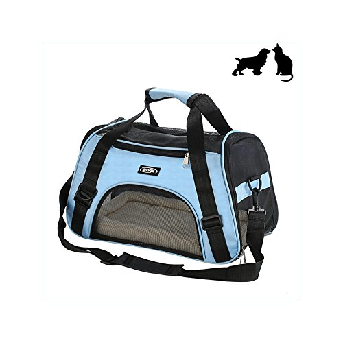 Dog Tote Pet Carrier (Small Soft-Sided Pet Carrier, Low Profile Travel Tote with Cozy and Soft Dog Bed, Portable, Collapsible, Airline Approved, Travel Friendly, Perfect for Small Dogs, Cats, Puppies, Kittens, Pet)