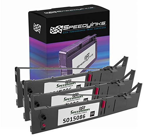 Speedy Inks Compatible Printer Ribbon Cartridge Replacement for Epson S015086 (Black, 3-Pack)