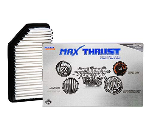 Spearhead MAX THRUST Performance Engine Air Filter For Low & High Mileage Vehicles - Increases Power & Improves Acceleration - Engine Hyundai
