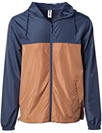 Global Mens Hooded Lightweight Windbreaker Winter Jacket Water Resistant Shell