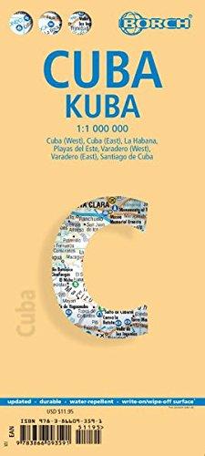 Cuba Map - Laminated Cuba Map by Borch (English Edition)