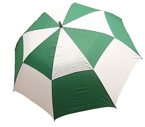 62インチダブルキャノピーゴルフ傘 – さまざまな色で利用可能  グリーン&ホワイト B01AKJEZPQ