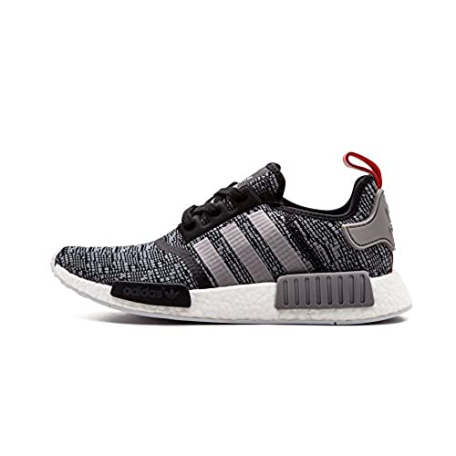 adidas Originals Men's NMD_R1 Glitch Graphic Core Black/Dark Grey Heather  Solid Grey/Core Black Athletic Shoe