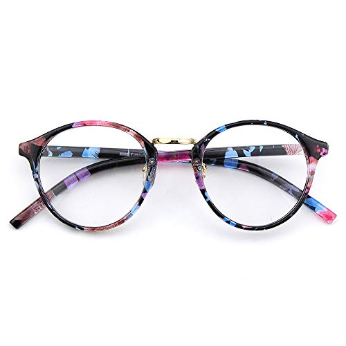 Happy Store CN65 Vintage Inspired Metal Bridge Round UV400 Clear Lens Glasses for Men and Women, Mixed ()