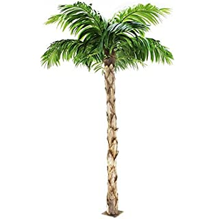 Amazon one 10 artificial coconut palm tree with two coconuts quality artificial peruvian palm tree 8ft tall replica indoor outdoor 240cm tall voltagebd Images