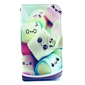 Towel Cake Candy Pattern PU Leather Case with Money Holder Card Slot for Samsung Galaxy S3 I9300