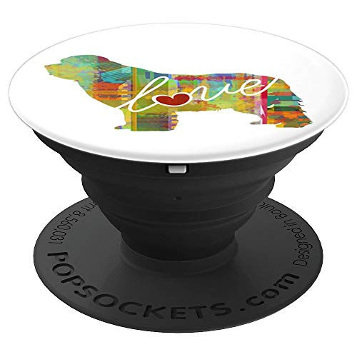 Newfoundland / Newfie Dog Love Colorful Watercolor Style - PopSockets Grip and Stand for Phones and Tablets