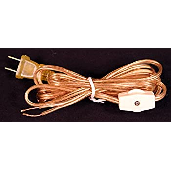 Westinghouse Gold Lamp Cord Set 8 Foot with Rotary On/off Switch