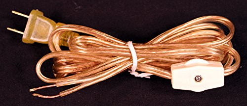 Westinghouse Gold Lamp Cord Set 8 Foot with Rotary On/off Switch (Christmas Lights Westinghouse)