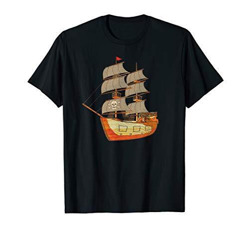(Pirate Ship T-Shirt, Pirate Flag Shirt)