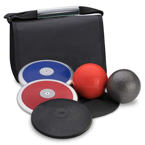 Track Emporium Five Star High School Boy's Discus & Shot Put Value Package. Meets All NFHS Specifications. Competition and Practice Economy - Package Value