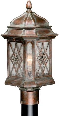 Sardinia 9 Outdoor Post Lantern in Royal Bronze