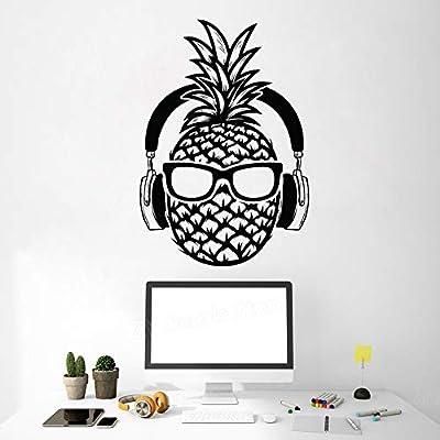 zqyjhkou Creative Pine DJ Vinyl Tatuajes de Pared Auriculares ...