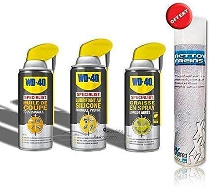 Pack WD40: lubricante AU silicona + copa + grasa de aceite en spray 400 ml incluye desengrasante (mecánico): Amazon.es: Coche y moto