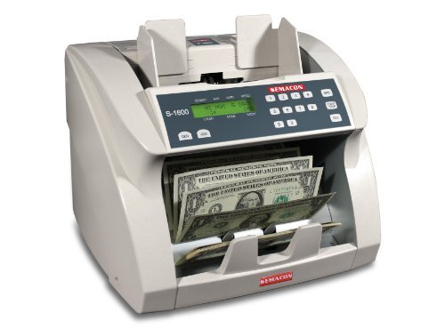 (Semacon S-1600 Ultra High-Speed Premium Bank Grade Currency Counter; Counting Mode, Adding Mode and Memory; 1000/1200/1500/1800 Notes per Minute; 10 Keys/1-999 Range Batching)