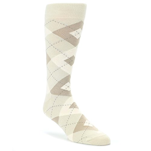 Champagne Argyle Men's Dress Socks - Statement Sockwear