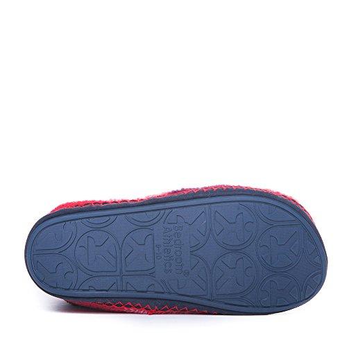 Bedroom Athletics-McQueen-Check Slipper-Stiefel, Fleece, Rot/Marineblau