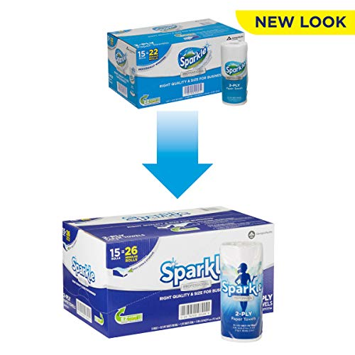 Sparkle 2-Ply Perforated Roll Paper Towels by GP PRO (Georgia-Pacific), White, 2717714, 85 Sheets Per Roll, 15 Rolls Per Case from Georgia-Pacific