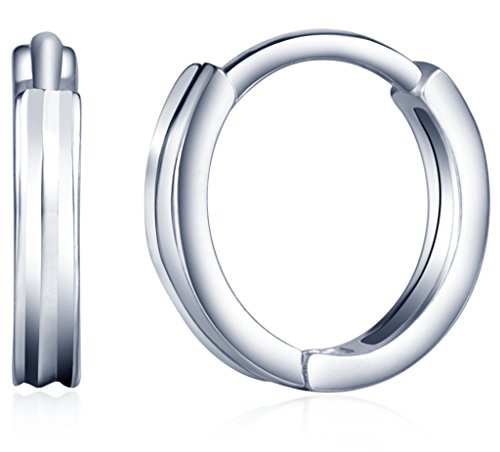 Infinite U Huggie Earrings 925 Sterling Silver Simple Small Hoop Cartilage for Women
