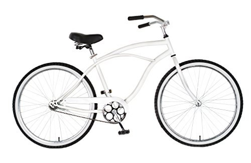 Buy Cycle Force Cruiser Bike, 26 inch Wheels, 18 inch Frame, Men's Bike, White (online)