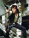 Star Wars Authentics: Harrison Ford as Han Solo 11x14 Authentic Autographed in Silver Ink Photo from 'Star Wars: A New Hope' - The Official Partner of Star Wars