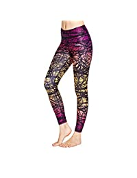 COOLOMG Women's Yoga Long Pants Compression Drawstring Running Tights with Reflector Inner Pocket Non See-through Exercise Workout Leggings