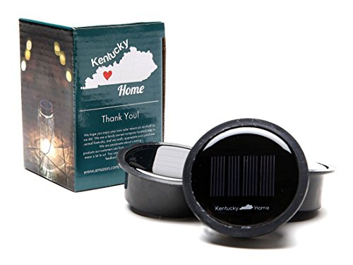 Kentucky Home 3 Pack - Solar Mason Jar Lid Insert - LED Mason Jar Solar Light for Glass Mason Jars and Garden Decor Solar Lights
