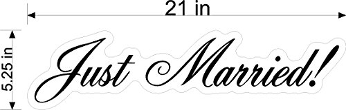 Wedding Window Clings (Just Married Script Wedding Static Cling Window Decals Removable and Reusable Wedding Clings Car Decorations)