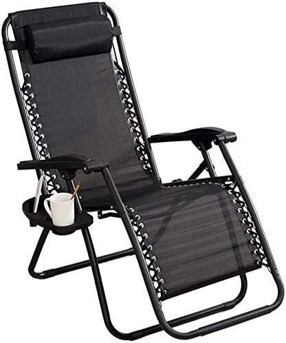 : HZC Black Patio Reclining Lounge Chairs Heavy