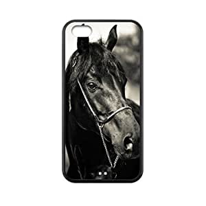 Love Black Horse Best Durable Rubber Silicon Case Cover for IPhone 5C TPU