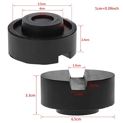 Semoic Black Rubber Slotted Floor Jack Pad Frame Rail Adapter For Pinch Weld Side Pad