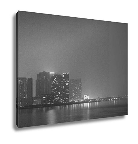 Ashley Canvas Williamsburg Skyline New York City, Wall Art Home Decor, Ready to Hang, Black/White, 16x20, - 16 Light Williamsburg