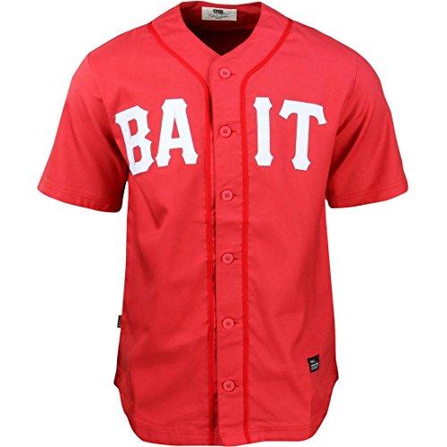BAIT Men Sluggers Baseball Jersey (red / white) Size XS US