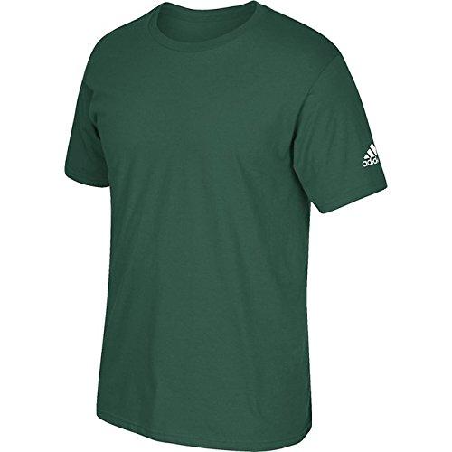 T-shirt Adidas Manica Corta Con Logo Verde Scuro