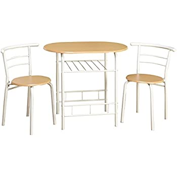 Target Marketing Systems 3 Piece Two Toned Bistro Dining Set With 2 Mid Back