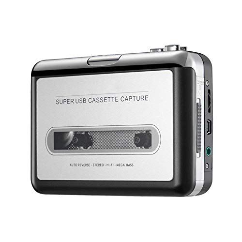Reshow Cassette Player - Portable Tape Player Captures MP3 Audio Music via USB - Compatible with Laptops and Personal Computers - Convert Walkman Tape Cassettes to iPod Format