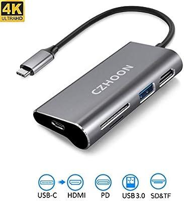 Amazon.com: czhoon USB C Hub, Adaptador de USB C 3.1 con ...