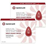 Squeeze Pod Travel Men's Shaving Cream - 30 Single Use Pods – Best for Sensitive Skin, Leakproof, TSA Approved Travel Size Shave Cream Made with Natural Ingredients - For Airlines, Gym Bags SC2