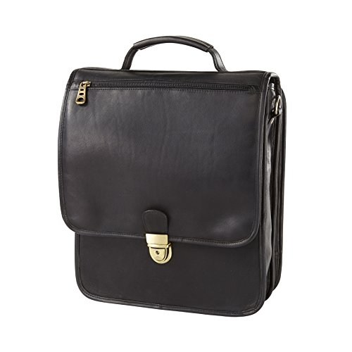 (Vachetta Upright Vertical Leather Brief (Black))