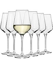 Krosno Grande Verre à Vin Blanc   Lot de 6   390 ML   Collection Avant-Garde   Parfait la Maison, Les Restaurants, Les Fêtes   Lave-Vaisselle et Micro-Ondes