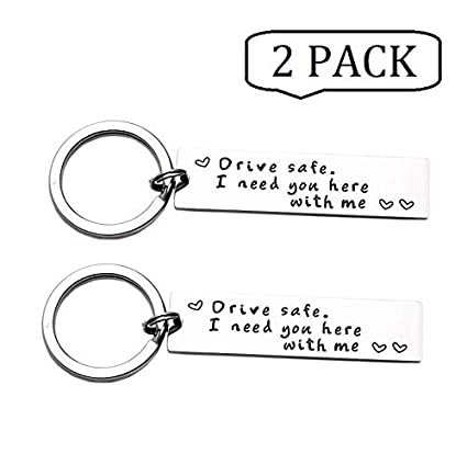 Amazon com: JSITON Drive Safe Keychains I Need You Here with